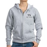7% Fat Free T-Shirts & Gifts Women's Zip Hoodie
