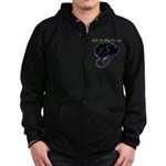 Wake Me When It's Over Zip Hoodie (dark)