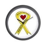 Keep My Grandson Safe Ribbon OIF Wall Clock