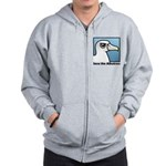 Save the Albatross (close-up) Zip Hoodie