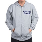 Diving Freak Zip Hoodie