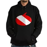 Text Bubble Dive Flag Hoodie (dark)
