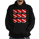 Dive Flags of the World Hoodie (dark)