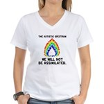 AS: Not Assimilated Women's V-Neck T-Shirt