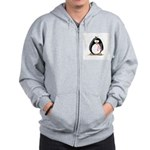 Breast Cancer penguin Zip Hoodie