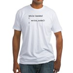 write_code() Fitted T-Shirt