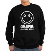 Obama Makes Me Smile Sweatshirt (dark)