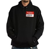 Obama Supporter Name Tag Hoodie (dark)