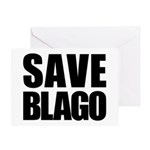 Save Illinois Governor Blagojevich, he's innocent! Greeting Card