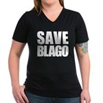 Save Illinois Governor Blagojevich, he's innocent! Women's V-Neck Dark T-Shirt