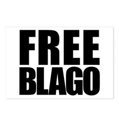 Free Illinois Governor Blagojevich, he's innocent! Postcards (Package of 8)