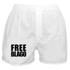 Free Illinois Governor Blagojevich, he's innocent! Boxer Shorts
