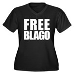Free Illinois Governor Blagojevich, he's innocent! Women's Plus Size V-Neck Dark T-Shirt