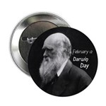Darwin Day Button - Dark