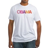 Obama Flowers Fitted T-Shirt