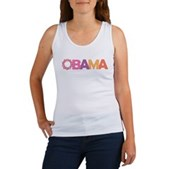 Obama Flowers Women's Tank Top