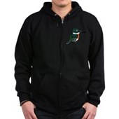 Green Kingfisher Zip Hoodie (dark)