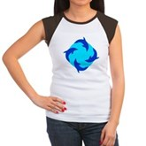 Dolphin Ring Women's Cap Sleeve T-Shirt