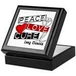 PEACE LOVE CURE Lung Cancer Keepsake Box