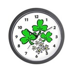 Irish Shamrocks Wall Clock