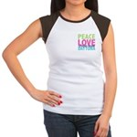 Two Sides Printed Women's Cap Sleeve T-Shirt