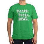 bears. beets. BSG. Men's Fitted T-Shirt (dark)