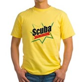 Scuba Take Me Away Yellow T-Shirt