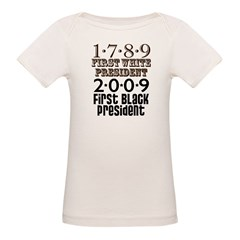 US Firsts: 1789-2009 Organic Baby T-Shirt
