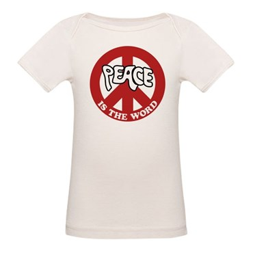 Peace is the word Organic Baby T-Shirt