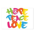 Hope Peace Love Postcards (Package of 8)