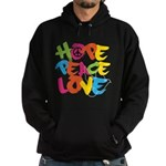 Hope Peace Love Hoodie (dark)
