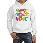 Hope Peace Love Hooded Sweatshirt