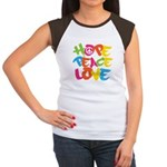 Hope Peace Love Women's Cap Sleeve T-Shirt