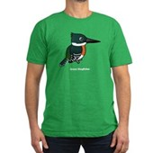 Green Kingfisher Men's Fitted T-Shirt (dark)