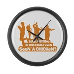 Chicken Dance Large Wall Clock