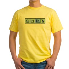 Chess made of Elements Yellow T-Shirt