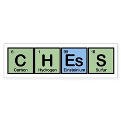 Chess made of Elements Sticker (Bumper)