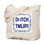 Dutch Tulips Delft Blue Style Tote Bag