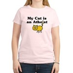 My Cat Is An Atheist Women's Light T-Shirt