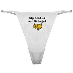 My Cat Is An Atheist Classic Thong