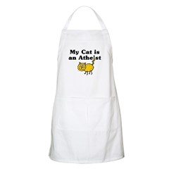 My Cat Is An Atheist BBQ Apron