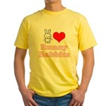 I Love Runny Babbits Yellow T-Shirt