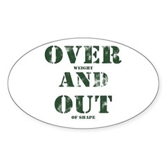 Over & Out Sticker (Oval)