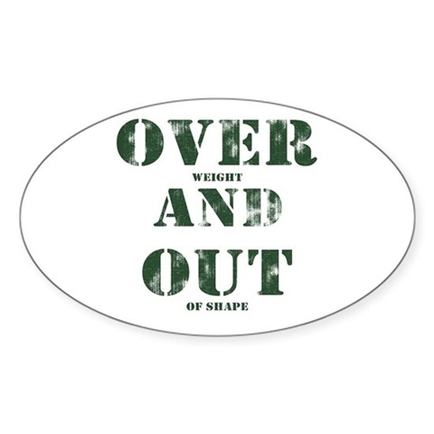 Over & Out Oval Sticker
