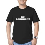 No Comment Men's Fitted T-Shirt (dark)