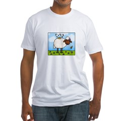 Spring Sheep Fitted T-Shirt
