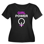 Girl Power Symbol Women's Plus Size Scoop Neck Dark T-Shirt