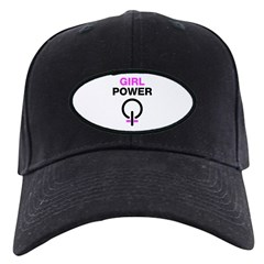 Girl Power Symbol Black Cap
