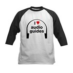 I Love Audio Guides Kids Baseball Jersey