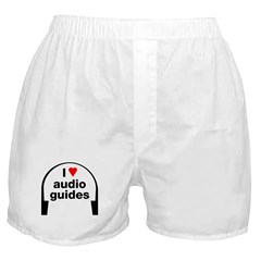 I Love Audio Guides Boxer Shorts